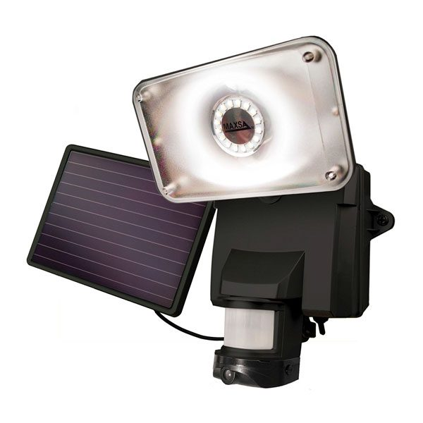 Maxsa Solar Security Video Camera and Floodlight-Black