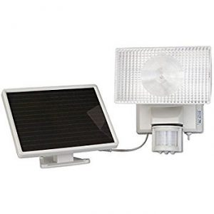 Maxsa Solar Security Video Camera and Floodlight-White