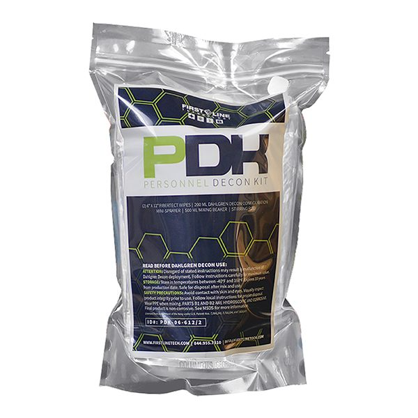 First Line Technology Personnel Decontamination Kit (PDK)